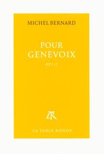 Pour Genevoix ebook by Michel Bernard