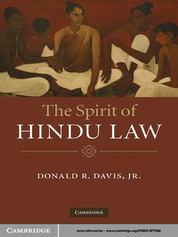 The Spirit of Hindu Law ebook by Donald R. Davis, Jr Jr