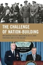 The Challenge of Nation-Building ebook by Rebecca Patterson