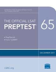 The Official LSAT PrepTest 65 - (Dec 2011) ebook by Law School Admission Council