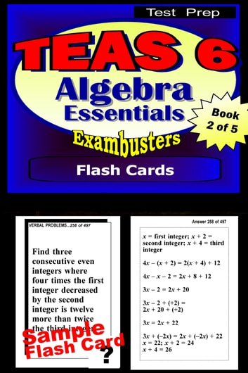 Teas 6 test prep algebra review exambusters flash cards workbook 2 teas 6 test prep algebra review exambusters flash cards workbook 2 of fandeluxe Image collections