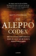De aleppo codex ebook by Matti Friedman