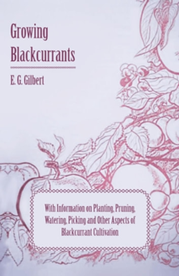 Growing Blackcurrants - With Information on Planting, Pruning, Watering, Picking and Other Aspects of Blackcurrant Cultivation ebook by E. G. Gilbert
