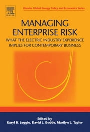Managing Enterprise Risk: What the Electric Industry Experience Implies for Contemporary Business ebook by Leggio, Karyl B