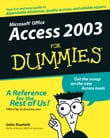 Access 2003 For Dummies