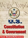 Us Constitution, Declaration Of Independence, Articles Of Confederation, Bill Of Rights, And Guide To Us Government (Mobi Study Guides)