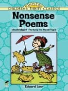 Nonsense Poems ebook by Edward Lear