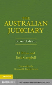 The Australian Judiciary ebook by Enid Campbell, H. P. Lee