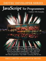 JavaScript for Programmers ebook by Harvey M. Deitel,Paul Deitel