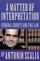 A Matter of Interpretation: Federal Courts and the Law - Federal Courts and the Law ebook by Antonin Scalia, Amy Gutmann