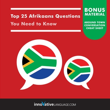 Top 25 Afrikaans Questions You Need to Know audiobook by Innovative Language Learning,LLC