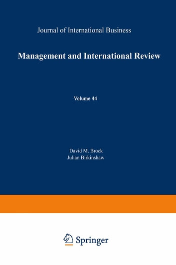 Management and International Review ebook by