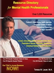 Resource Directory for Mental Health Professionals ebook by Lauer, Teresa, M.
