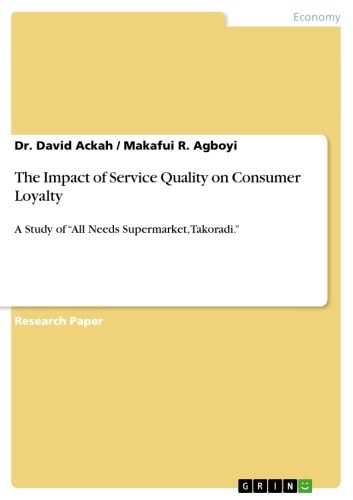 the impact of service quality on International journal of humanities and social science vol 1 no 7 [special issue –june 2011] 253 study the effects of customer service and product quality on customer.