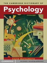The Cambridge Dictionary of Psychology ebook by David Matsumoto