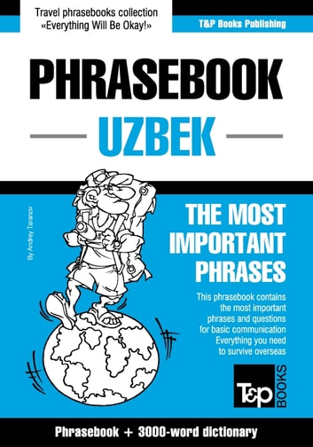 English-Uzbek phrasebook and 3000-word topical vocabulary ebook by Andrey Taranov