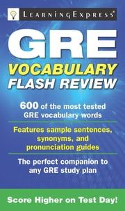 GRE Vocabulary Flash Review ebook by Learning Express Editors