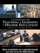 A Handbook for Teaching and Learning in Higher Education ebook by Heather Fry,Steve Ketteridge,Stephanie Marshall