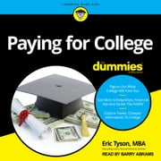 Paying For College For Dummies audiobook by Eric Tyson, MBA