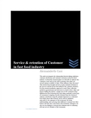 Service & retention of Customer in fast food industry ebook by Alexsanderle Cusi