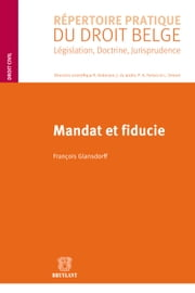 Mandat et fiducie ebook by François Glansdorff