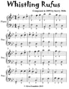 Whistling Rufus Rag - Easiest Piano Sheet Music for Beginner Pianists ebook by Silver Tonalities