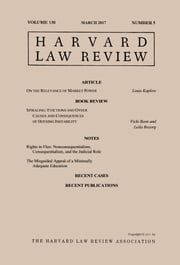 Harvard Law Review: Volume 130, Number 5 - March 2017 ebook by Harvard Law Review