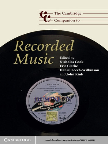 The Cambridge Companion to Recorded Music ebook by