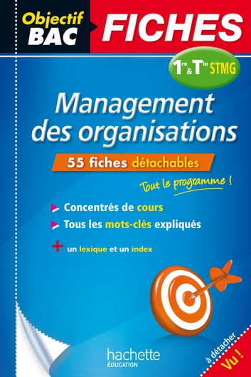 Objectif Bac Fiches Management 1re et Term STMG ebook by Jean-Bernard Ducrou