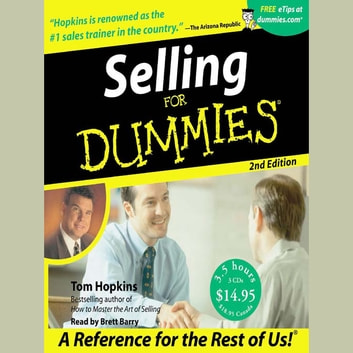 Selling For Dummies audiobook by Tom Hopkins