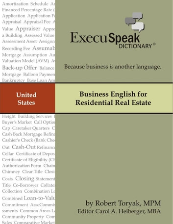Business English for Residential Real Estate ebook by Robert Toryak