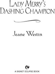 Lady Merry's Dashing Champion ebook by Jeane Westin