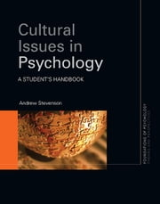 Cultural Issues in Psychology - A Student's Handbook ebook by Andrew Stevenson