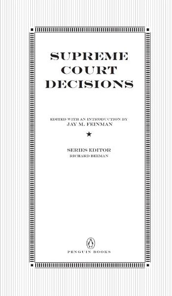 Supreme Court Decisions ebook by