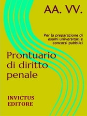 Prontuario di diritto penale ebook by aa.vv.