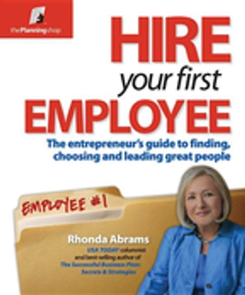 Hire Your First Employee Ebook By Rhonda Abrams 9781933895697