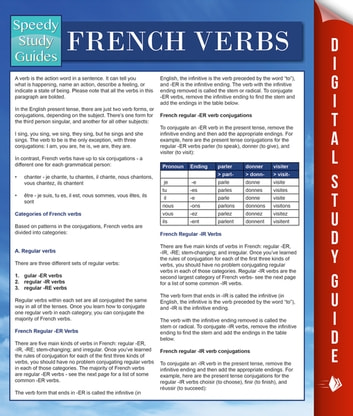 French Verbs (Speedy Language Study Guides) ebook by Speedy Publishing
