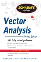 Schaum's Outline of Vector Analysis, 2ed ebook by Murray Spiegel,Seymour Lipschutz