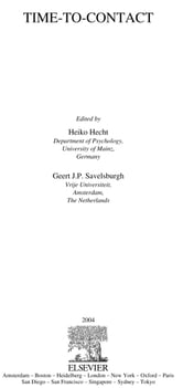 Time-to-Contact ebook by Hecht, Heiko