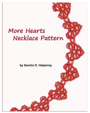 More Hearts Necklace Pattern ebook by Sandra D Halpenny