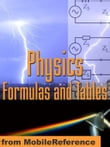 Physics Formulas And Tables: Classical Mechanics, Heat, Gas, Thermodynamics, Electromagnetism, Optics, Atomic Physics, Physical Constants, Symbols & More. (Mobi Study Guides)