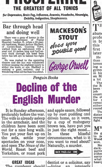 Decline of the English Murder ebook by George Orwell