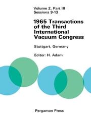 Sessions 9-13: 28 June-2 July 1965, Stuttgart, Germany ebook by Adam, H.