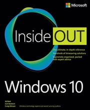 Windows 10 Inside Out ebook by Bott, Ed