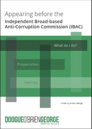 Appearing Before the Independent Broad-Based Anti-Corruption Commission (IBAC) ebook by Andrew George