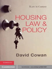 Housing Law and Policy ebook by David Cowan