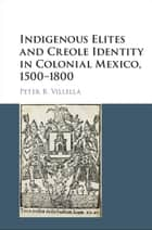 Indigenous Elites and Creole Identity in Colonial Mexico, 1500–1800 ebook by Peter B. Villella