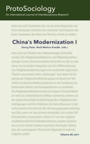 China's Modernization I - ProtoSociology Volume 28 ebook by Georg Peter,Reuß-Markus Krauße