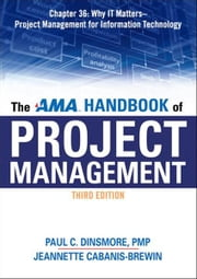 The AMA Handbook of Project Management, Chapter 36 ebook by Paul C. DINSMORE