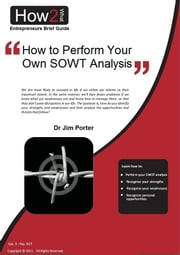How to Perform Your Own SWOT Analysis ebook by Dr Jim Porter